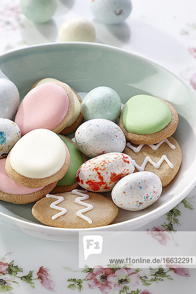 Easter cookies and sweet eggs