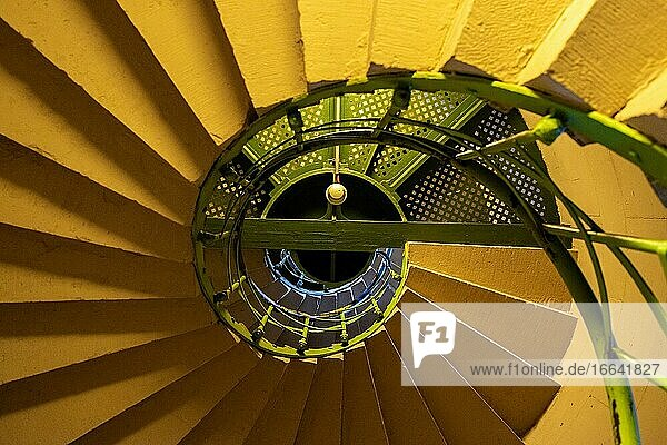Berlin  Germany. Internal  circular stairs inside the Siegesaule leading towards the top of the landmark with viewpoint over Tiergarten.