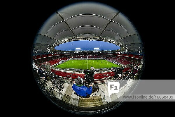 Stadium without spectators  ghost game in the Bundesliga  Mercedes-Benz Arena  Corona crisis  Stuttgart  Baden-Württemberg  Germany  Europe
