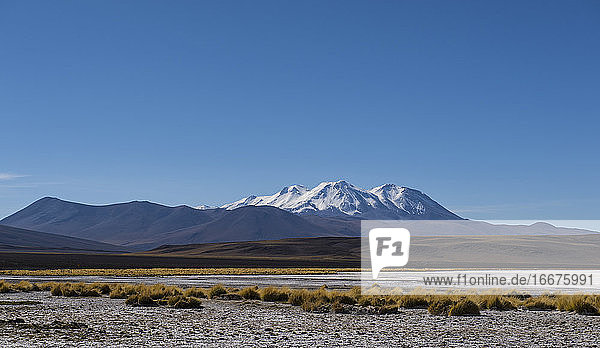 snowcapped mountain in the Antofagasta Region in Chile