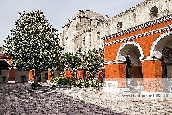 Santa Catalina Monastery (Convento de Santa Catalina aka Saint Catherine)  a convent in Arequipa  Peru