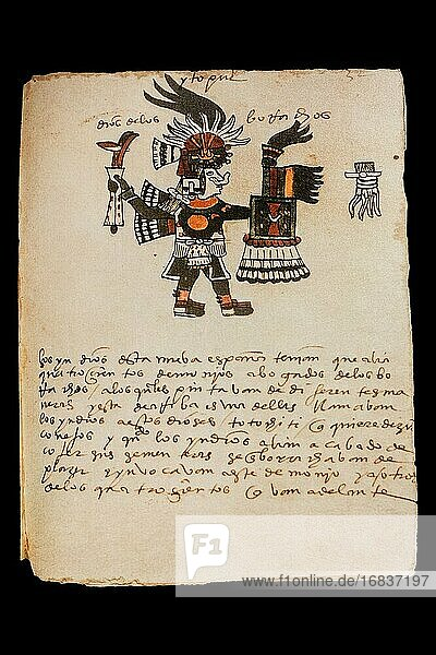 Tezcatzoncatl  Aztec Pulque God at Codex Tudela  16th-century pictorial Aztec codex. Museum of the Americas  Madrid  Spain.