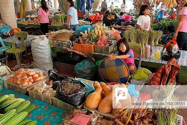 View of Local market in sarawak  Bintulu division  sarawak  malaysia  borneo
