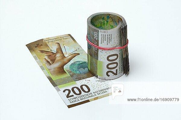Neue Banknoten der Schweiz  200 Franken  Serie 9  Schweiz  Europa