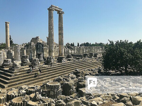 Wide View of Historical Apollon Temple.