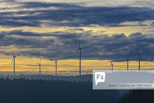 Windkraftanlage  Windpark  Baden-Württemberg  Deutschland  Europa