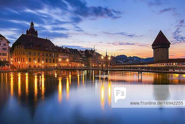 Altstadt Luzern  Schweiz  Europa
