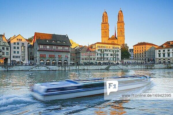 Zürcher Grossmünster  Schweiz  Europa