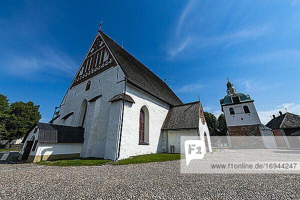 Dom von Porvoo in der Holzstadt Poorvo  Finnland  Europa