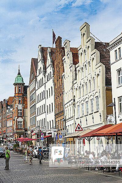 Hanseatische Häuser  Lübeck  UNESCO-Welterbe  Schleswig-Holstein  Deutschland  Europa