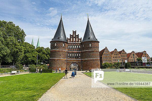 Holstentor  Lübeck  UNESCO-Welterbe  Schleswig-Holstein  Deutschland  Europa
