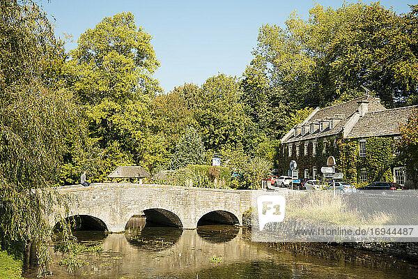 Bibury  Cotswolds  Gloucestershire  England  Vereinigtes Königreich  Europa