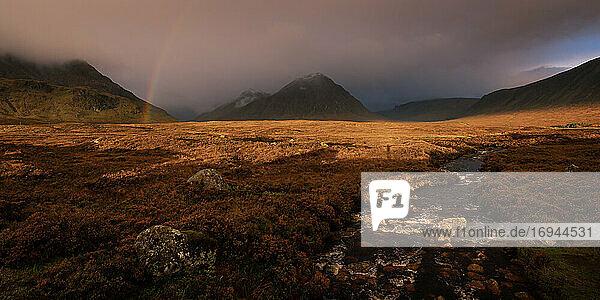 Buchaille Etive Mor  Glencoe  Schottische Highlands  Schottland  Vereinigtes Königreich  Europa