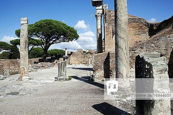 Forum Thermalbäder  Ostia Antica  Latium  Italien  Europa