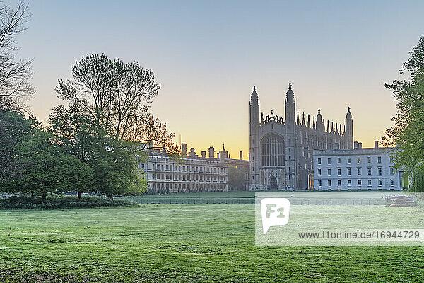 The Backs  King's College Chapel  Cambridge  Cambridgeshire  England  Vereinigtes Königreich  Europa