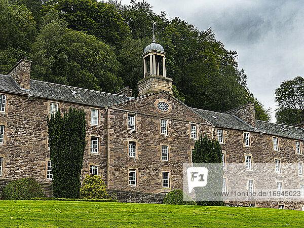 Die Industriestadt New Lanark  UNESCO-Weltkulturerbe  Schottland  Vereinigtes Königreich  Europa