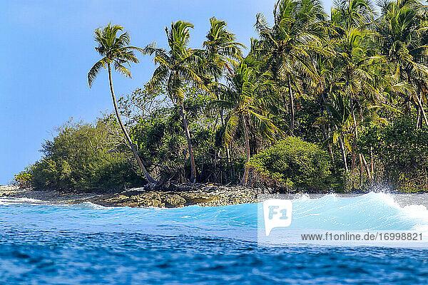Landscape scenery Huraa island at Maldives
