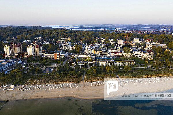 Germany  Usedom  Seaside resort and beach  aerial view