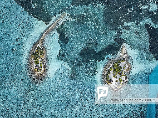 Aerial view of Barefoot Island  Hudhuranfushi island   Maldives