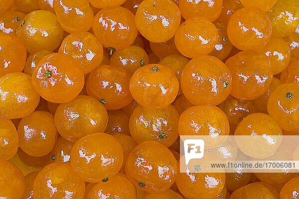 Heap of candied clementines