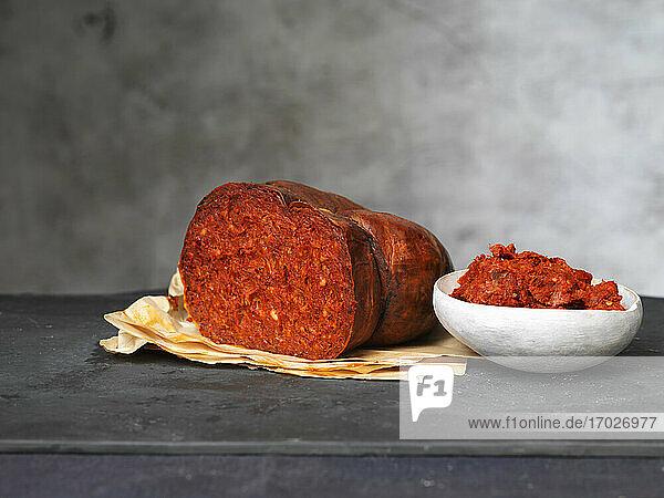 Nduja (Rohwurst  Kalabrien  Italien)