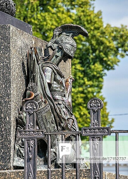 Poltava  Ukraine 07. 13. 2020. The Column of Glory commemorates the centenary of the Battle of Poltava  Ukraine  on a sunny summer day.