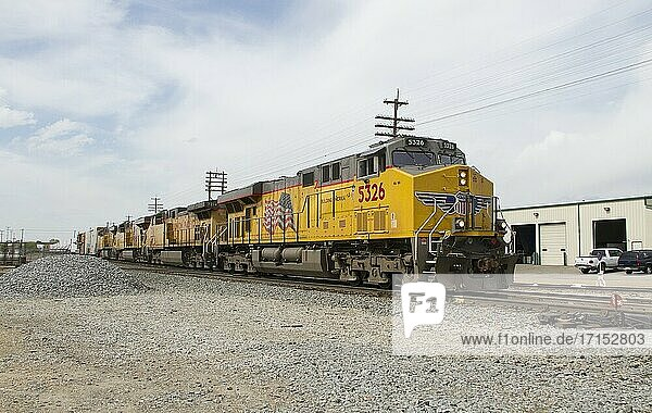 Union Pacific-Zug in Caldwell  Idaho  Vereinigte Staaten.