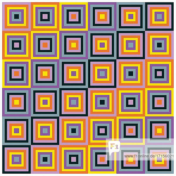 Sich wiederholendes quadratisches Muster