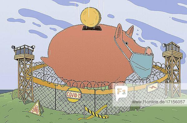 Geschützte Sparschwein-Ersparnisse während der Covid-Krise