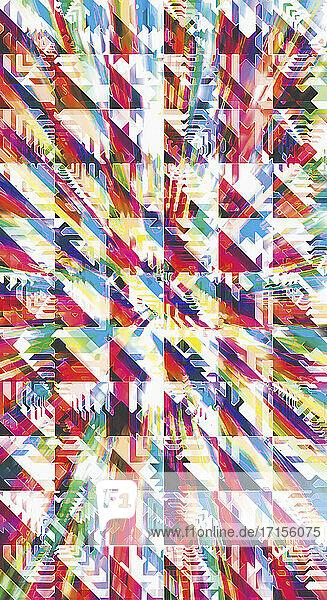 Komplexes abstraktes dreidimensionales Gittermuster