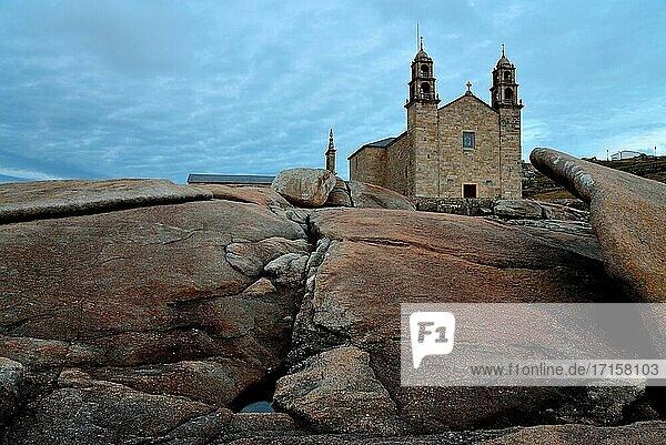 Sanctuary of Virxe da Barca in Muxia  A Coru?a  Spain.