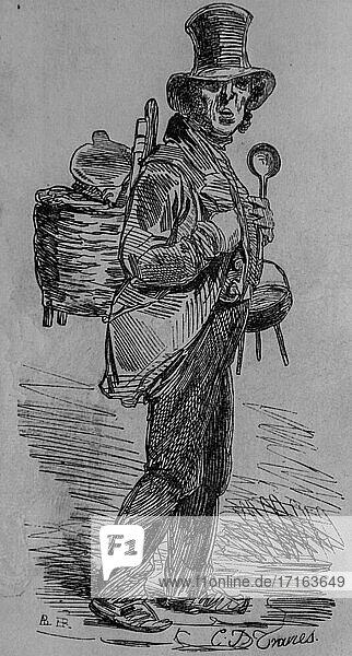 Etameur  paris painting by edmond texier  editor paulin et le chevalier 1852.