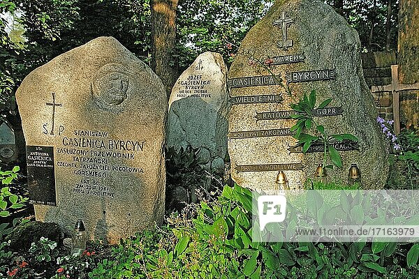Some tombstones of the family Gasienica Byrcyn.