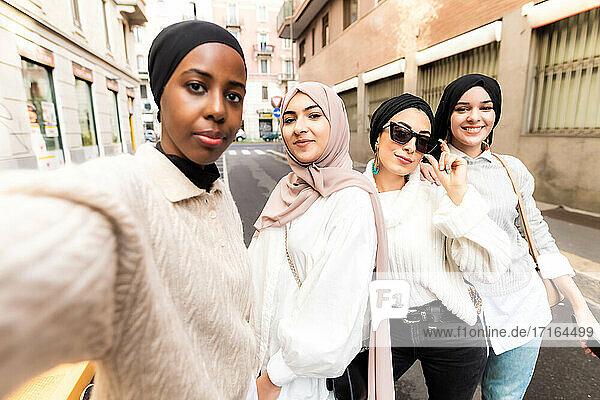 Female friends taking a selfie