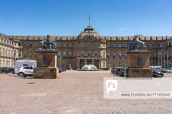 Germany  Baden-Wurttemberg  Stuttgart  Facade of Neues Schloss
