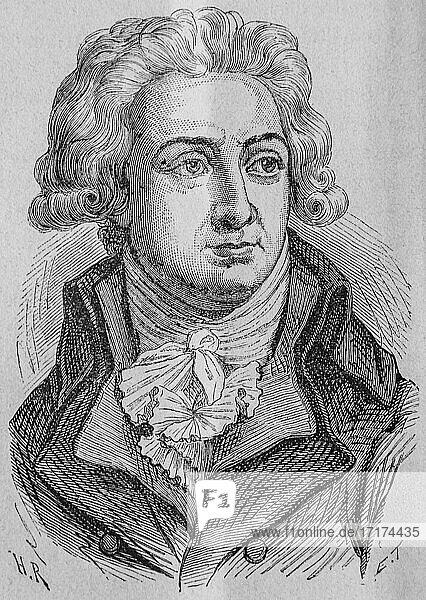 Herault de sechelles  1792-1804  history of france by henri martin  editor furne 1850.