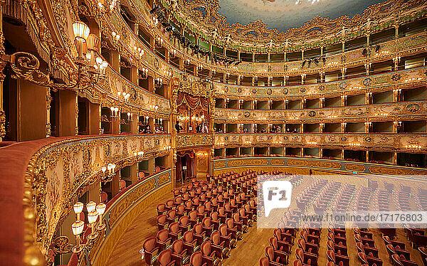 Zuschauerraum des Teatro la Fenice  Venedig  Venetien  Italien |Auditorium of Gran Teatro La Fenice di Venezia  Venice  Veneto  Italy|
