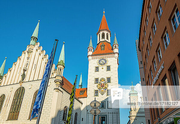 Munich. Germany  Marienplatz square  the Old Town Hall
