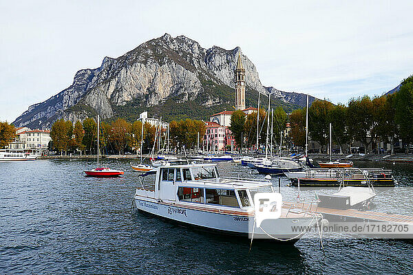 Italy  Lombardy  Lecco  panorama
