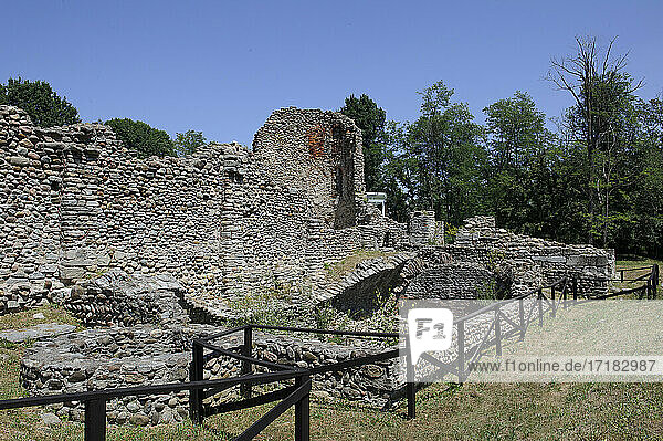 Europe  Italy  Lombardy  Varese countryThe archaeological area of Castelseprio with the ruins of a village destroyed in the 13th century. Unesco - World Heritage Site.