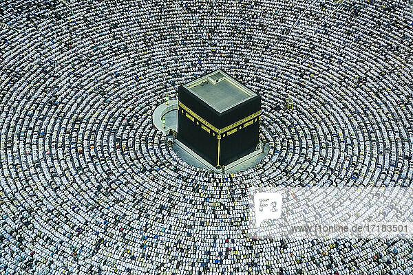 Die Hajj jährliche islamische Pilgerfahrt nach Mekka  der heiligen Stadt in Saudi-Arabien