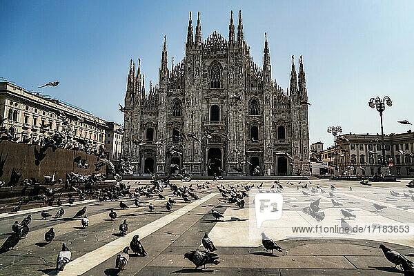 Italien  Lombardei  Mailand  Domplatz