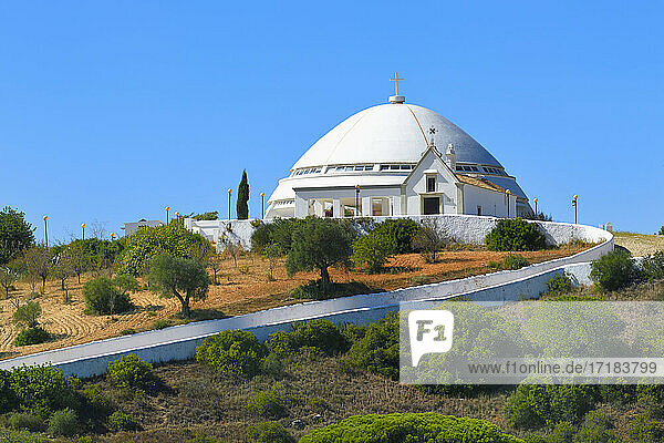 View over Nossa Senhora da Piedade Sanctuary  Loule  Faro district  Algarve  Portugal  Europe