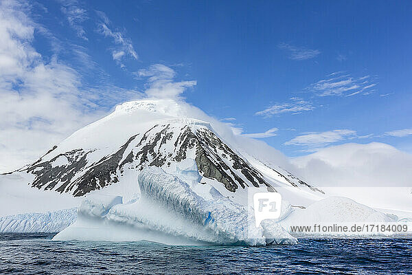 Large iceberg off the shore of Astrolabe Island  Bransfield Strait  Trinity Peninsula  Antarctica  Polar Regions