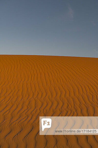 Sand ripples in the sand dunes of the Tenere Desert  Sahara  Niger  Africa