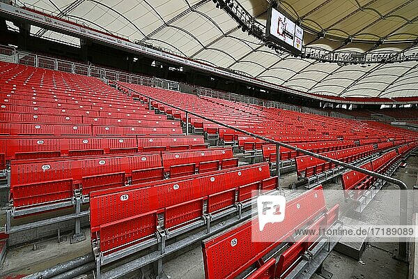 Leere Sitzplätze  Geisterspiel  Corona-Krise  Mercedes-Benz Arena  Stuttgart  Baden-Württemberg  Deutschland  Europa