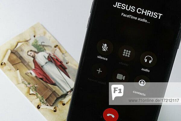 Bild auf einem Smartphone