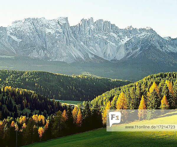 Landschaft  Europa  Italien  Suedtirol Dolomiten  Latemar   landscape  europa  italia  Alto Adige; Dolomiti  dolomits