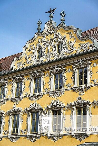 Haus zum Falken  Falkenhaus  Würzburg  Unterfranken  Bayern  Deutschland  Europa