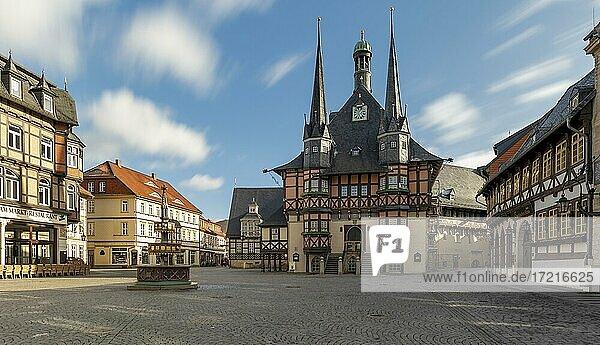 City Hall  Wernigerode  Harz  Saxony-Anhalt  Germany  Europe City Hall, Wernigerode, Harz, Saxony-Anhalt, Germany, Europe